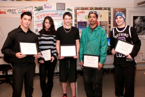 Scholarship Winners - January 2013